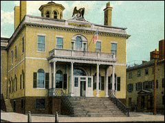 The Salem Custom House on  1908 postcard