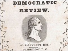 Front Cover of <I>The Democratic Review</I>, January, 1838