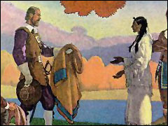 The Squaw Sachem Sells Her Land to John Winthrop
