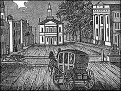Salem View, 1839.  Looking North on Washington Street from the intersection of Front Street.