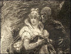 "Illustration for ""Lady Eleanore's Mantle"" from <I>Hawthorne's Works, vol. 1, Twice-Told Tales,</i> frontispiece"