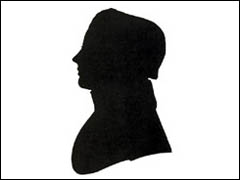 Silhouette of Nathaniel Hawthorne in 1825(?)