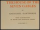 Title page of volume 1 of <i>The House of the Seven Gables</i> illustrated by Edith and Mildred Cowles (Houghton Mifflin, 1899)