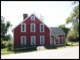 "The rebuilt version of ""The Little Red House\"" at Tanglewood in Lenox, MA"